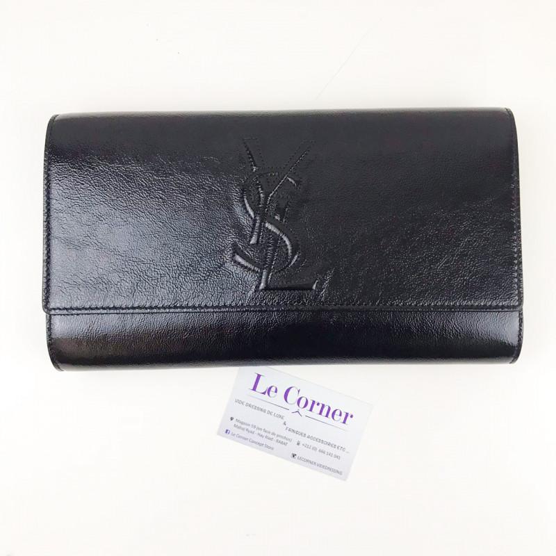 Saint Laurent pochette vernis noire Comme NEUF 699766c09e0