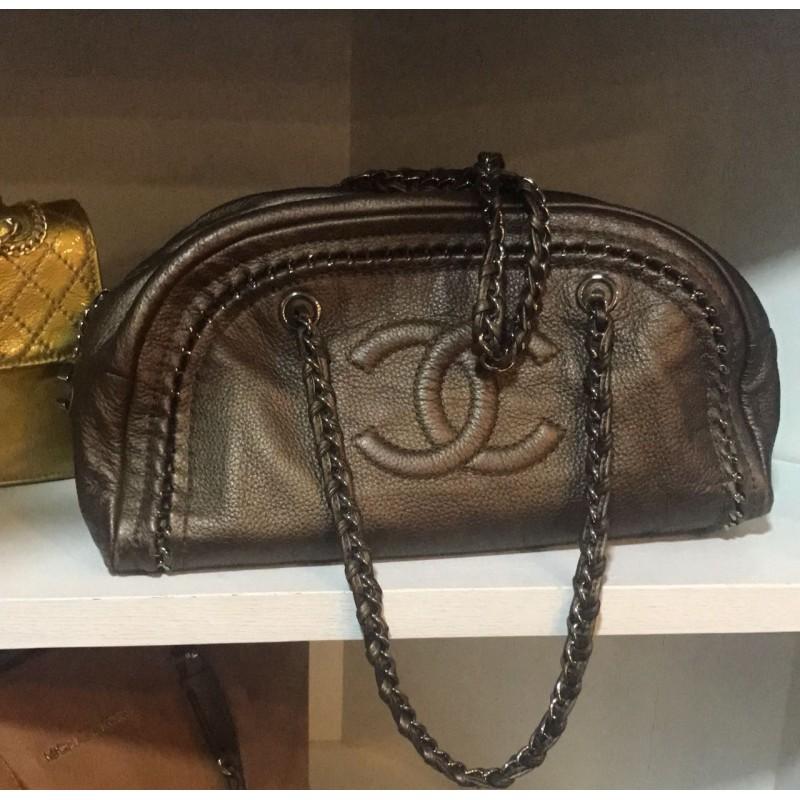 Chanel sAc Moyen Bronze marron Excellent État c892d1fc608